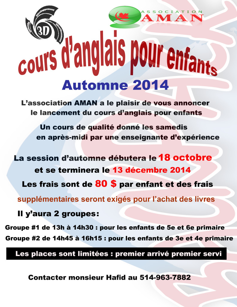 Anglais Club3D 2014-2015